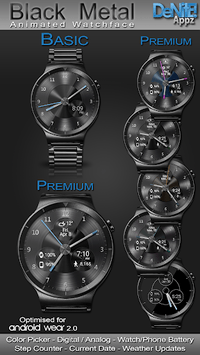 Black Metal HD Watch Face Widget & Live Wallpaper pc screenshot 1