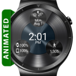 Black Metal 2 HD WatchFace Widget & Live Wallpaper icon