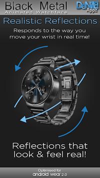 Black Metal HD Watch Face Widget & Live Wallpaper pc screenshot 2