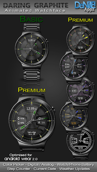 Daring Graphite HD WatchFace Widget Live Wallpaper pc screenshot 1