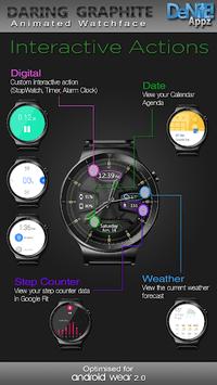 Daring Graphite HD WatchFace Widget Live Wallpaper pc screenshot 2