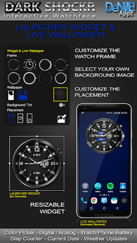 Dark ShockR HD Watch Face Widget & Live Wallpaper pc screenshot 2
