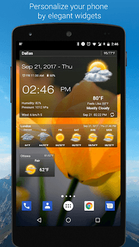 Weather & Clock Widget for Android pc screenshot 1