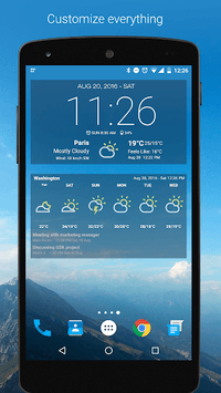 Weather & Clock Widget for Android pc screenshot 2