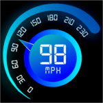 Speedometer - Car distance tracker or speed meter icon