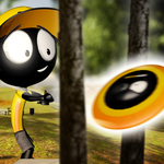 Stickman Disc Golf Battle for pc logo