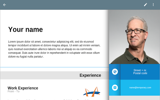 Free Resume App pc screenshot 1