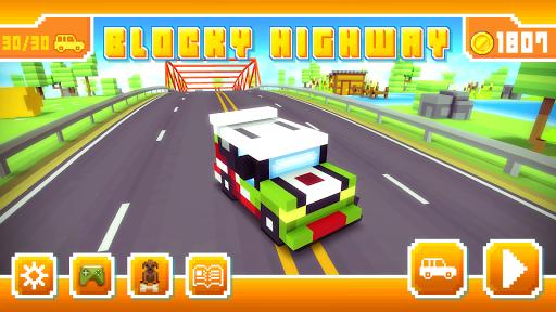 Blocky Highway: Traffic Racing pc screenshot 1