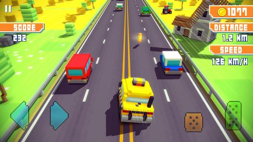 Blocky Highway: Traffic Racing pc screenshot 2