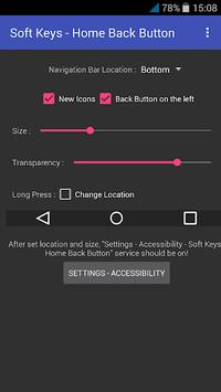 Soft Keys - Home Back Button pc screenshot 1