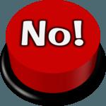 No Button icon