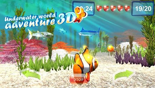 Underwater world. Adventure 3D pc screenshot 1