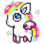 Unicorn: Color by Number, Pixel Art Color Number icon