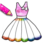 Glitter Dresses Coloring Book - Drawing pages icon