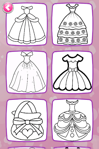 Glitter Dresses Coloring Book - Drawing pages pc screenshot 1