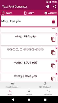 Text Font Generator, Encode Messages pc screenshot 1