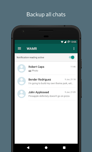 WAMR - Recover deleted messages & status download pc screenshot 1