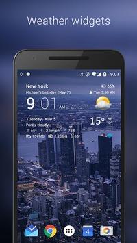 Transparent clock & weather pc screenshot 1
