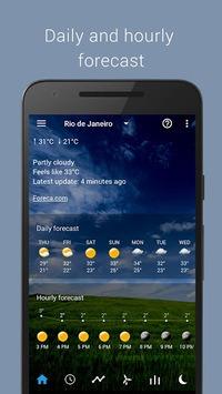 Transparent clock & weather pc screenshot 2