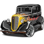 Hot Rod Puzzle Free icon