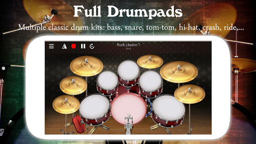 Drum Live: Real drum set drum kit music drum beat pc screenshot 1