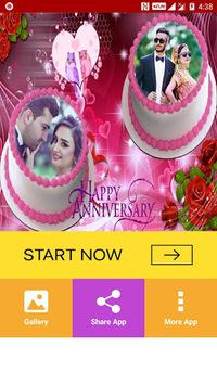 Anniversary Cake Dual Photo Frame pc screenshot 1