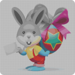 Color By Number pixel Art Sandbox Coloring Easter icon