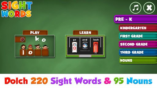 Sight Words  Pre-K to Grade-3 pc screenshot 1