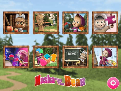 Masha and the Bear. Educational Games pc screenshot 1