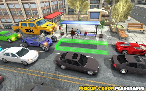 Yellow Cab City Taxi Driver: New Taxi Games PC screenshot 2