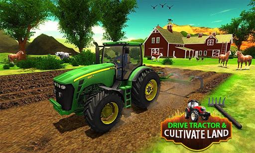 Big Farming Tractor Drive 3D-18 pc screenshot 1