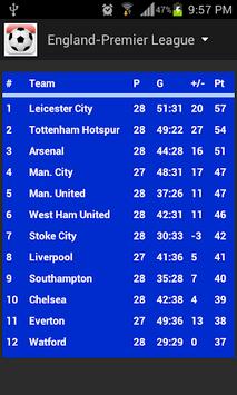 Football Fixtures pc screenshot 1