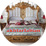 Carved Wooden Bed Design icon