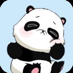Cute Panda Emoji Keyboard Sticker icon