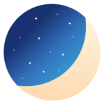 Luna Diary-journal on the moon icon