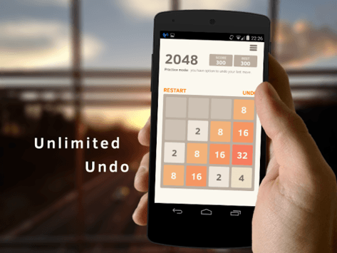 2048 Number puzzle game pc screenshot 1