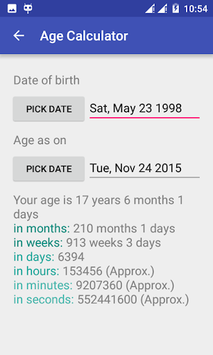 Age Calculator - Date and Calendar Calculator App pc screenshot 1