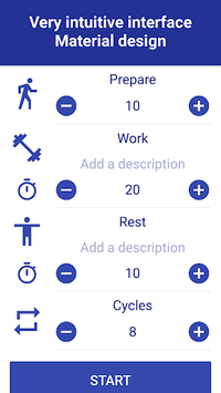 Tabata Timer: Interval Timer Workout Timer HIIT pc screenshot 1