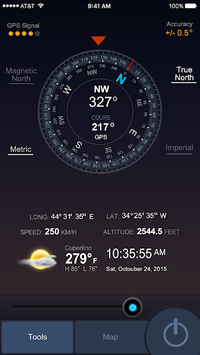 All GPS Tools Pro (Compass, Weather, Map Location) pc screenshot 1