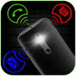 Flashlight on call, SMS and Alerts icon
