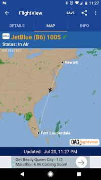 FlightView Free Flight Tracker pc screenshot 2