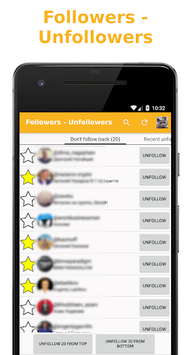 Followers - Unfollowers pc screenshot 1