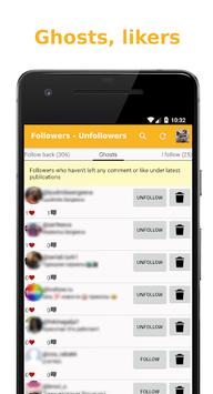 Followers - Unfollowers pc screenshot 2