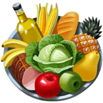 Calories in food icon