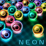 Magnetic balls: glowing neon HD for pc logo