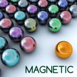 Magnetic balls bubble shoot for pc logo