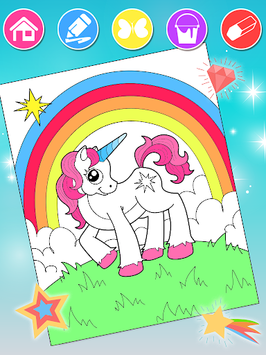 Unicorn Coloring Book pc screenshot 1