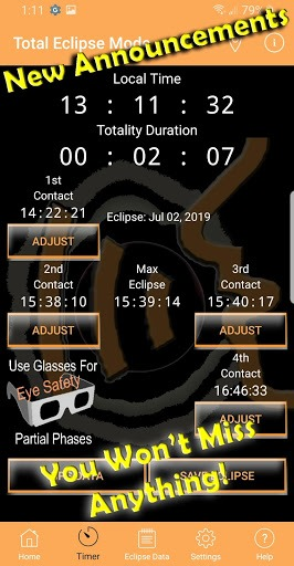 Solar Eclipse Timer PC screenshot 3