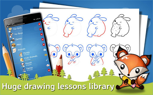 How to Draw Step by Step Drawing App pc screenshot 1