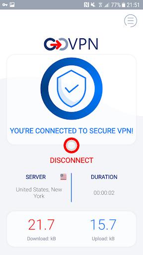 VPN free & secure fast proxy shield by GOVPN PC screenshot 2